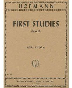 Hofmann, Richard - First Studies, Op. 86 - Viola solo - International Edition